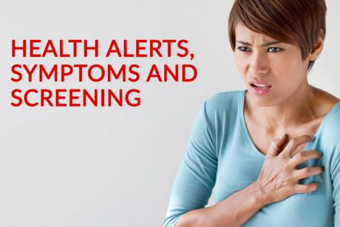 Health Alerts Symptoms and Screening